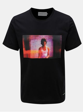 Čierne pánske tričko s krátkym rukávom Calvin Klein Jeans