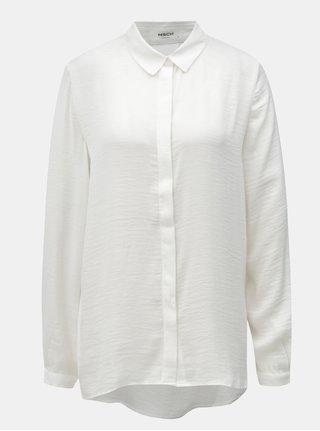 Bílá volna košile se skrytou légou Moss Copenhagen Blair