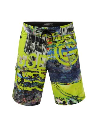 Pantaloni scurti de baie verde deschis cu model NUGGET Youngblood