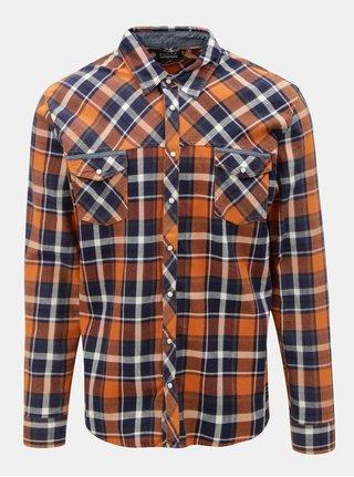 Modro-oranžová regular košile Blend