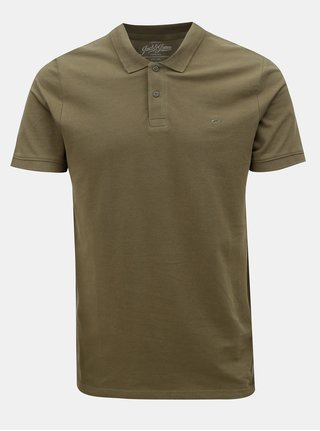 Tricou polo kaki Jack & Jones
