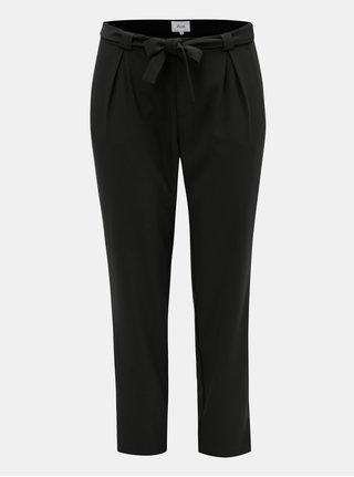 Čierne nohavice s vysokým pásom a zaväzovaním Zizzi