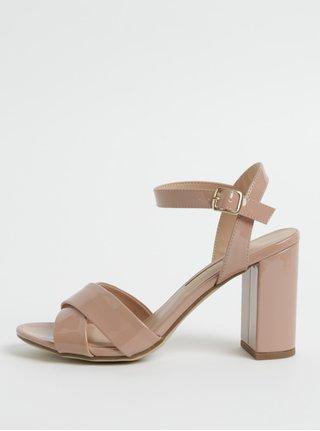 Sandale roz inchis cu toc inalt Dorothy Perkins
