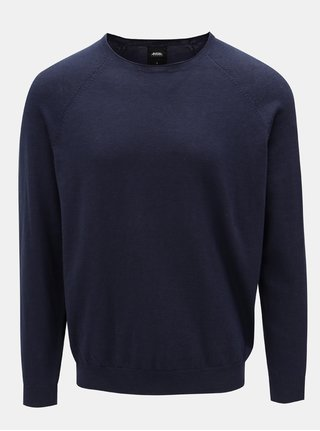 Tmavě modrý svetr s kulatým výstřihem Burton Menswear London