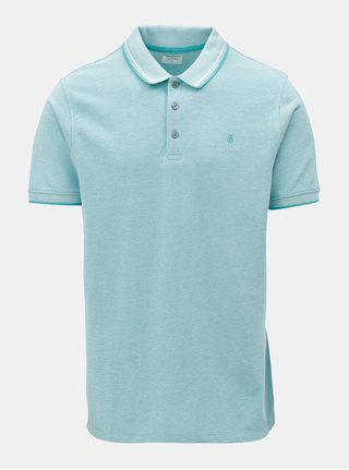 Tricou polo turcoaz Burton Menswear London