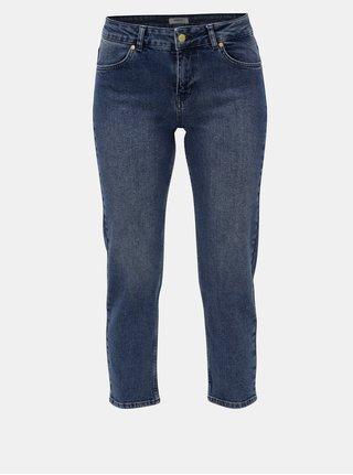 Modré zkrácené straight džíny Moss Copenhagen