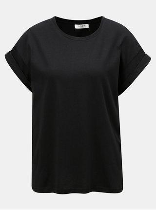 Tricou negru oversize Moss Copenhagen