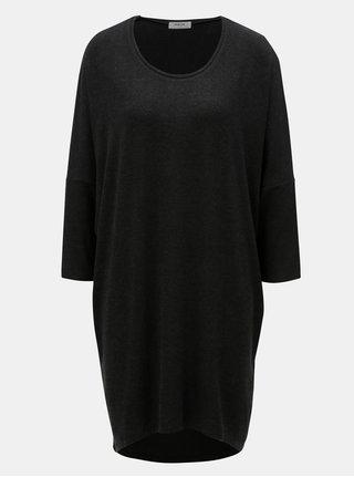 Černé žíhané one size šaty Moss Copenhagen