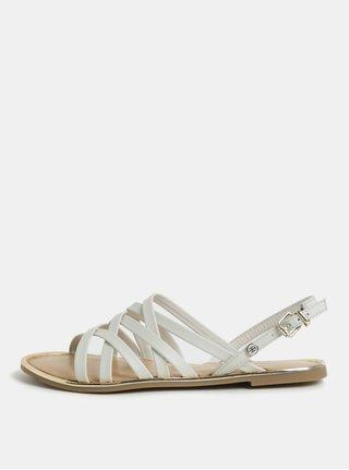 Bílé dámské kožené sandály Tommy Hilfiger