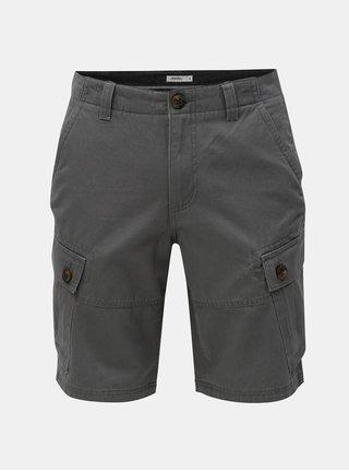 Tmavosivé kraťasy s vreckami na nohaviciach Burton Menswear London