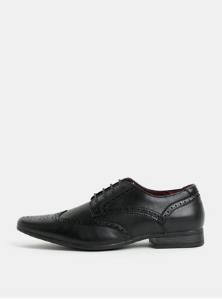 Pantofi barbatesti brogue negri Burton Menswear London