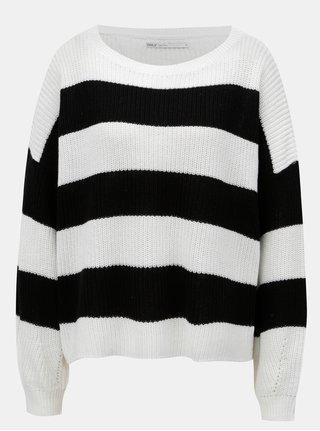 Bílo-černý pruhovaný svetr ONLY Campos