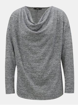 Šedý žíhaný svetr s dlouhým rukávem ONLY Elcos