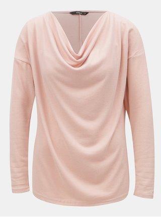 Ružový sveter s dlhým rukávom ONLY Elcos