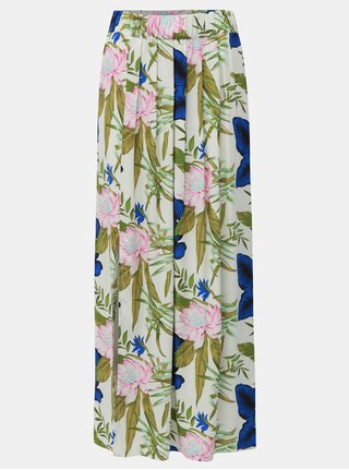 Zeleno-biela kvetovaná maxi sukňa ONLY Nova