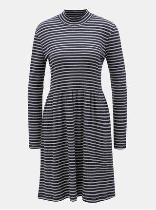 Sivo-modé pruhované šaty VERO MODA