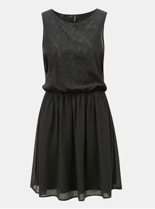Čierne šaty s gumou v páse VERO MODA