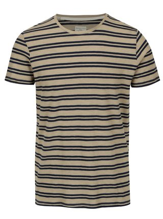 Tricou maro in dungi Selected Homme Malthe