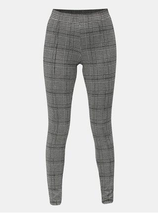 Pantaloni gri-negri cu model si talie elastica ONLY Selma