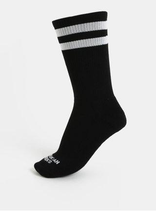 Čierne unisex ponožky s pruhmi American socks II.