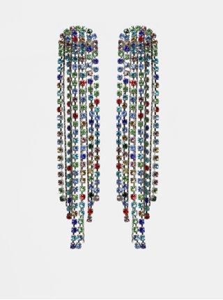 Náušnice v striebornej farbe so strapcami ONLY Dimla