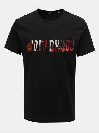 Černé tričko s potiskem ONLY & SONS Worldhood