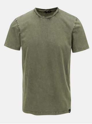 Khaki basic tričko ONLY & SONS Dacid