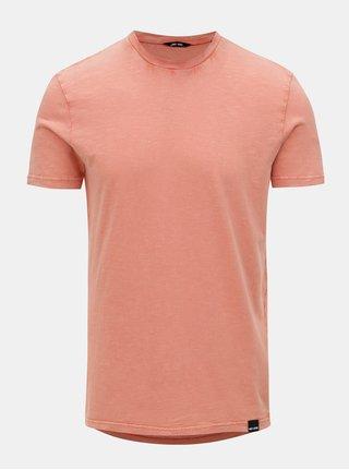 Světle oranžové basic tričko ONLY & SONS Dacid
