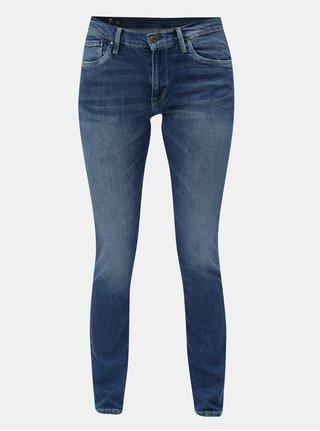 Blugi albastri slim din denim Pepe Jeans Victoria