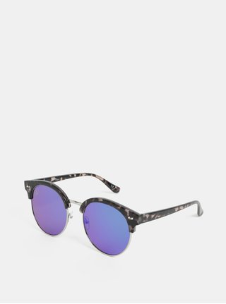 Čierne dámske vzorované slnečné okuliare Jeepers Peepers