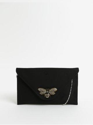 Čierna listová kabelka v semišovej úprave s ozdobou ZOOT