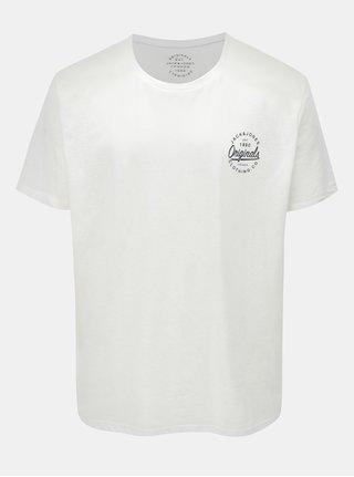 Tricou alb cu print Jack & Jones Breeze Small