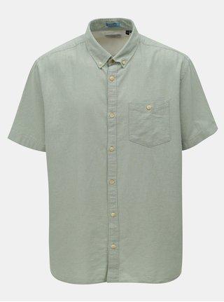 Světle zelená košile s náprsní kapsou Jack & Jones Portland
