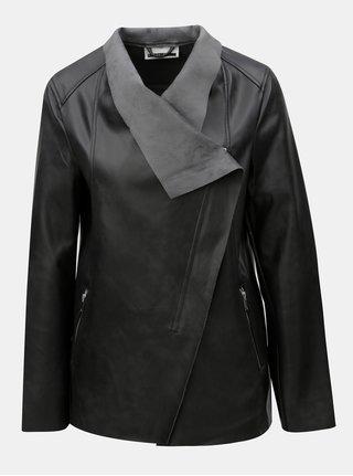 Čierna koženková bunda Noisy May Cubs