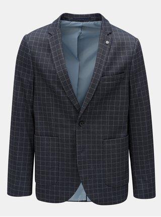 Sacou albastru inchis in carouri Burton Menswear London