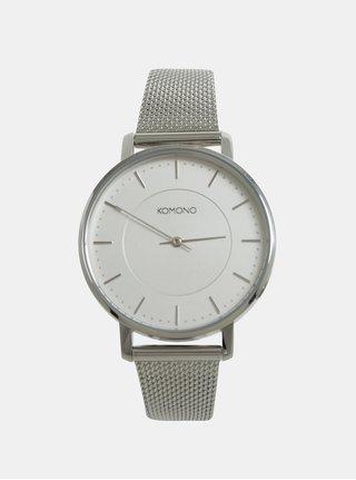 Dámske hodinky s nerezovým remienkom v striebornej farbe Komono