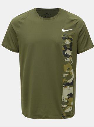 Tricou barbatesc kaki slim fit functional cu print Nike