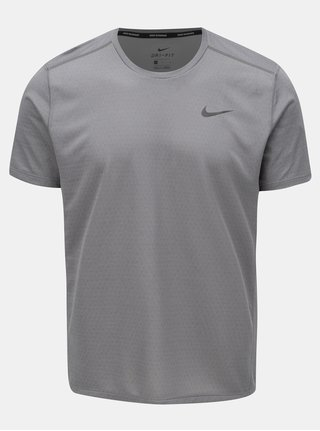 Tricou barbatesc gri cu print la spate Nike Miler tech Top