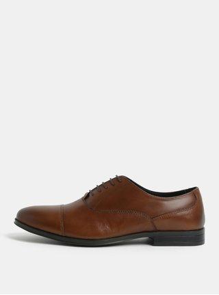 Pantofi barbatesti maro din piele Menswear London