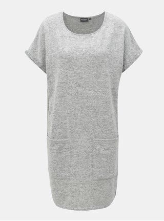Šedé žíhané svetrové šaty Broadway Geralyn