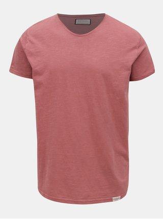 Vínové basic tričko s krátkým rukávem Shine Original