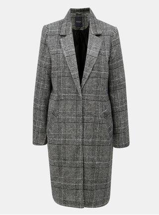 Krémovo-čierny dámsky vzorovaný kabát Broadway Hessie