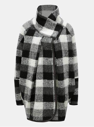 Krémovo-čierny dámsky vzorovaný kabát Broadway Maisy