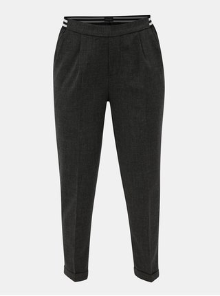 Sivé dámske skrátené nohavice s elastickým pásom Broadway Gabby