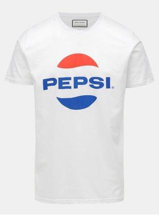 Bílé tričko s potiskem Shine Original Pepsi