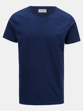 Modré melírované basic tričko Lindbergh