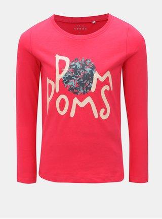 Červené dievčenské tričko s dlhým rukávom Name it Veen