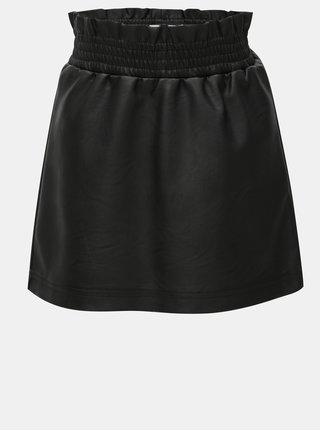 Černá koženková holčičí sukně Name it Nafur