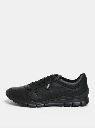 Černé kožené tenisky Geox Sukie