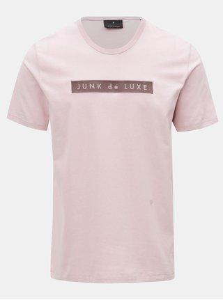 Ružové tričko s výšivkou JUNK de LUXE